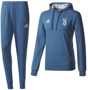 ADIDAS JUVENTUS HOODIE TRAININGSPAK 2017-2018 BLUE NIGHT