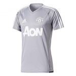 ADIDAS MANCHESTER UNITED TRAININGSSHIRT 2017-2018 GREY WHITE € 44,99