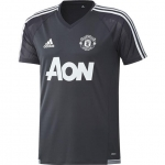ADIDAS MANCHESTER UNITED TRAININGSSHIRT 2017-2018 NIGHT GREY € 44,99
