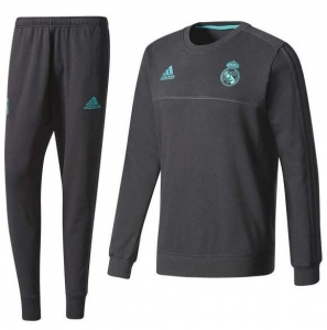 ADIDAS REAL MADRID SWEAT TRAININGSPAK 2017-2018 BLACK