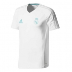 ADIDAS REAL MADRID TRAININGSSHIRT 2017-2018 WHITE € 40