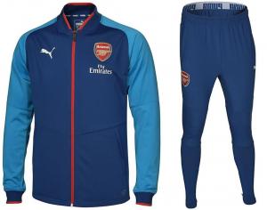 Arsenal-Trainingspak-Poly-Senior-2017-2018-blauw