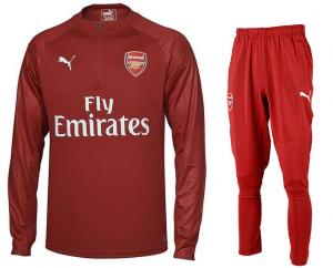 Arsenal-Trainingspak-Senior-2017-2018-rood