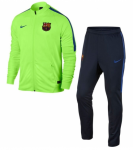 FC Barcelona Dry Squad Trainingspak 2017 Ghost Green Game Royal
