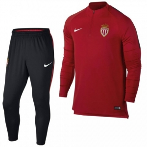 NIKE AS MONACO DRY SQUAD DRILL TRAININGSPAK 2017-2018 UNIVERSITY RED BLACK