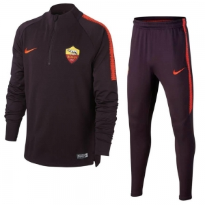 NIKE AS ROMA DRY SQUAD DRILL TRAININGSPAK 2018-2019  BURGUNDY