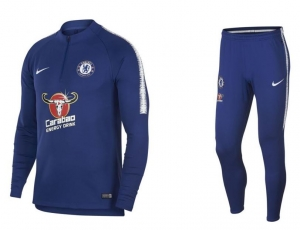 NIKE CHELSEA DRY SQUAD DRILL TRAININGSSUIT 2018-2019 RUSH BLUE