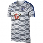 NIKE CHELSEA DRY SQUAD TRAININGSSHIRT 2017-2018 WHITE RUSH BLUE € 54,99