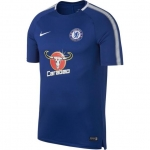 NIKE CHELSEA SQUAD TRAININGSSHIRT 2017-2018 RUSH BLUE € 45