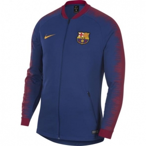 NIKE FC BARCELONA ANTHEM TRAININGSJACK 2018-2019 ROYAL BLUE