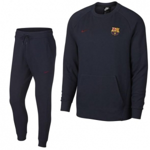 NIKE FC BARCELONA CREW TRAININGSPAK 2018-2019 OPTIC OBSIDIAN