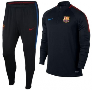 NIKE FC BARCELONA DRY SQUAD DRILL TRAININGSPAK 2017-2018 BLACK