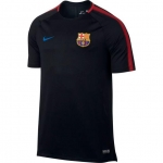 NIKE FC BARCELONA SQUAD TRAININGSSHIRT 2017-2018 BLACK € 44,99