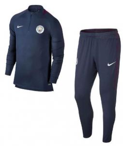 NIKE MANCHESTER CITY DRY SQUAD DRILL TRAININGSPAK 2017-2018 MIDNIGHT NAVY