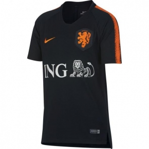 NIKE NEDERLAND BREATHE SQUAD TRAININGSSHIRT 2018-2020 KIDS BLACK SAFETY ORANGE