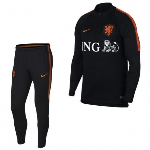 NIKE NEDERLAND DRY SQUAD DRILL TRAININGSPAK 2018 BLACK
