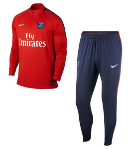NIKE PARIS SAINT GERMAIN DRY SQUAD DRILL TRAININGSPAK 2017-2018 RUSH RED