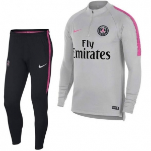 NIKE PARIS SAINT GERMAIN DRY SQUAD DRILL TRAININGSPAK 2018-2019 WOLF GREY