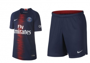 NIKE PARIS SAINT GERMAIN THUISBROEKJE 2018-2019 + NIKE PARIS SAINT GERMAIN THUISSHIRT 2018-2019