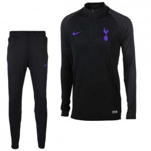 NIKE TOTTENHAM HOTSPUR DRY SQUAD DRILL TRAININGSPAK 2018-2019 BLACK HEATHER