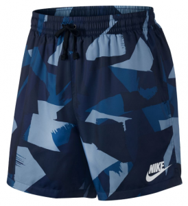 M NSW SHORT WVN SU FLOW blauw