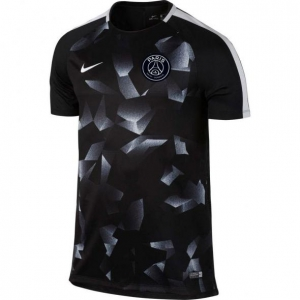 NIKE PARIS SAINT GERMAIN DRY SQUAD CAMO TRAININGSSHIRT 2017-2018 BLACK PURE PLATINUM