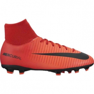 NIKE MERCURIAL VICTORY VI DYNAMIC FIT FG UNIVERSITY RED WHITE BLACK KIDS