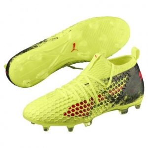 PUMA FUTURE 18.2 NETFIT FG AG FIZZY YELLOW RED