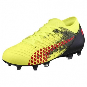 PUMA FUTURE 18.4 HYBRID FG KIDS FIZZY YELLOW RED