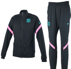 Nike-FC-Barcelona-Dry-Strike-Trainingspak-CL-2020-2021-Zwart-Roze