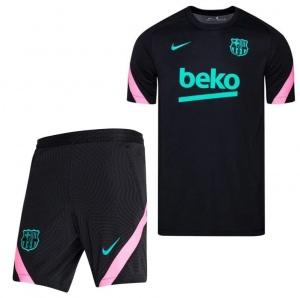 Nike-FC-Barcelona-Dry-Strike-Trainingsset-2020-2021-Kids-Zwart-Roze