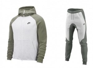 NIKE-TECH-FLEECE-WIT-GROEN