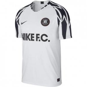 NIKE F.C. VOETBALSHIRT WHITE BLACK WHITE