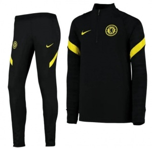 Nike-Chelsea-Strike-Drill-Trainingspak-2021-2022-Zwart-Geel