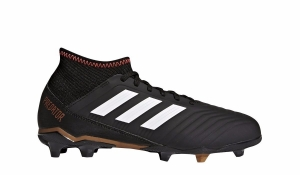 ADIDAS PREDATOR 18.3 FG CORE BLACK FUTURE WHITE SOLAR RED