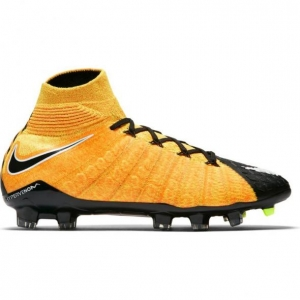 NIKE HYPERVENOM PHANTOM III DYNAMIC FIT FG LASER ORANGE WHITE BLACK VOLT KIDS