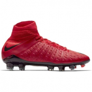 NIKE HYPERVENOM PHANTOM III DYNAMIC FIT FG UNIVERSITY RED BLACK BRIGHT CRIMSON KIDS