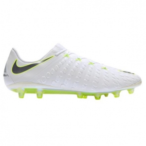 NIKE HYPERVENOM PHANTOM III ELITE AG-PRO WHITE METALLIC COOL GREY VOLT