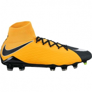NIKE HYPERVENOM PHATAL III DYNAMIC FIT FG LASER ORANGE BLACK WHITE