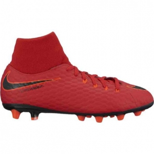 NIKE HYPERVENOM PHELON III DYNAMIC FIT AGPRO UNIVERSITY RED WHITE BLACK KIDS