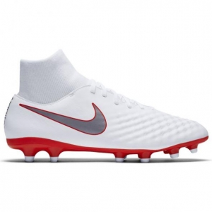 NIKE MAGISTA OBRA II ACADEMY DYNAMIC FIT FG WHITE METALLIC COOL
