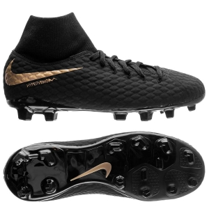 Nike Hypervenom Phantom 3 Academy DF FG Game of Gold - Zwart Goud Kinderen