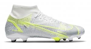 Nike-Mercurial-Superfly-8-Academy-Gras-Kunstgras-Voetbalschoenen-MG-Wit-Zwart-Zilver-Geel-E-90
