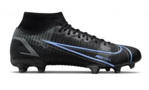 Nike-Mercurial-Superfly-8-Academy-Gras-Kunstgras-Voetbalschoenen-MG-Zwart-Donkergrijs