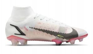 Nike-Mercurial-Superfly-8-Elite-Gras-Voetbalschoenen-FG-Wit-Zwart-Rood-Roze