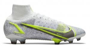 Nike-Mercurial-Superfly-8-Elite-Gras-Voetbalschoenen-FG-Wit-Zwart-Zilver-Geel