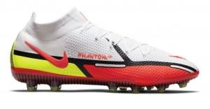 Nike-Phantom-GT-2-Elite-DF-Kunstgras-Voetbalschoenen-AG-Wit-Rood-Geel