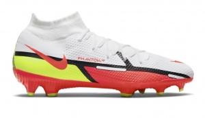Nike-Phantom-GT-2-Pro-DF-Gras-Voetbalschoenen-FG-Wit-Rood-Geel