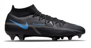Nike-Phantom-GT-2-Pro-DF-Gras-Voetbalschoenen-FG-Zwart-Donkergrijs