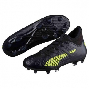 PUMA FUTURE 18.3 HYBRID FG KIDS PUMA BLACK FIZZY YELLOW